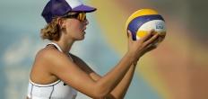 Beachvolleybalster Joy Stubbe op de vierde plek