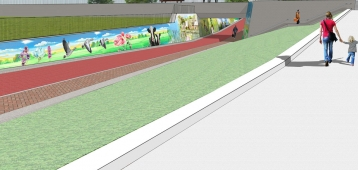 Stem op ontwerp tunnelschildering station Waddinxveen Triangel