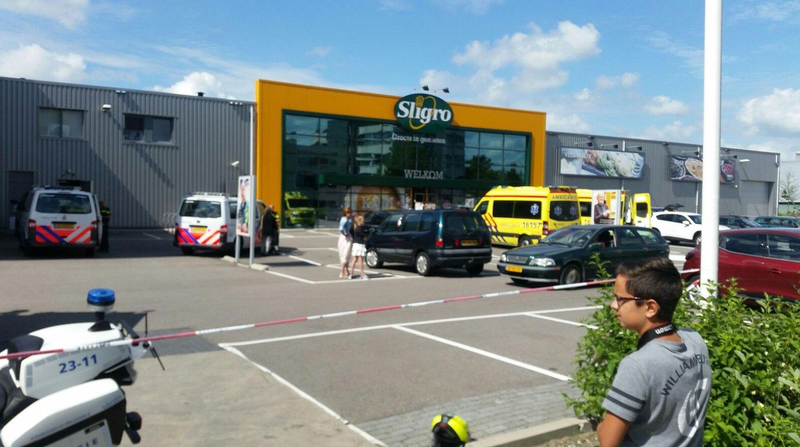 Gewonde bij poging tot winkeldiefstal bij Sligro