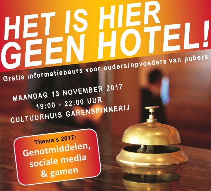 Gratis informatiebeurs 'Het is hier geen hotel!'