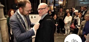 Ereburgerschap voor Maurits Tompot, koster Sint-Janskerk Gouda