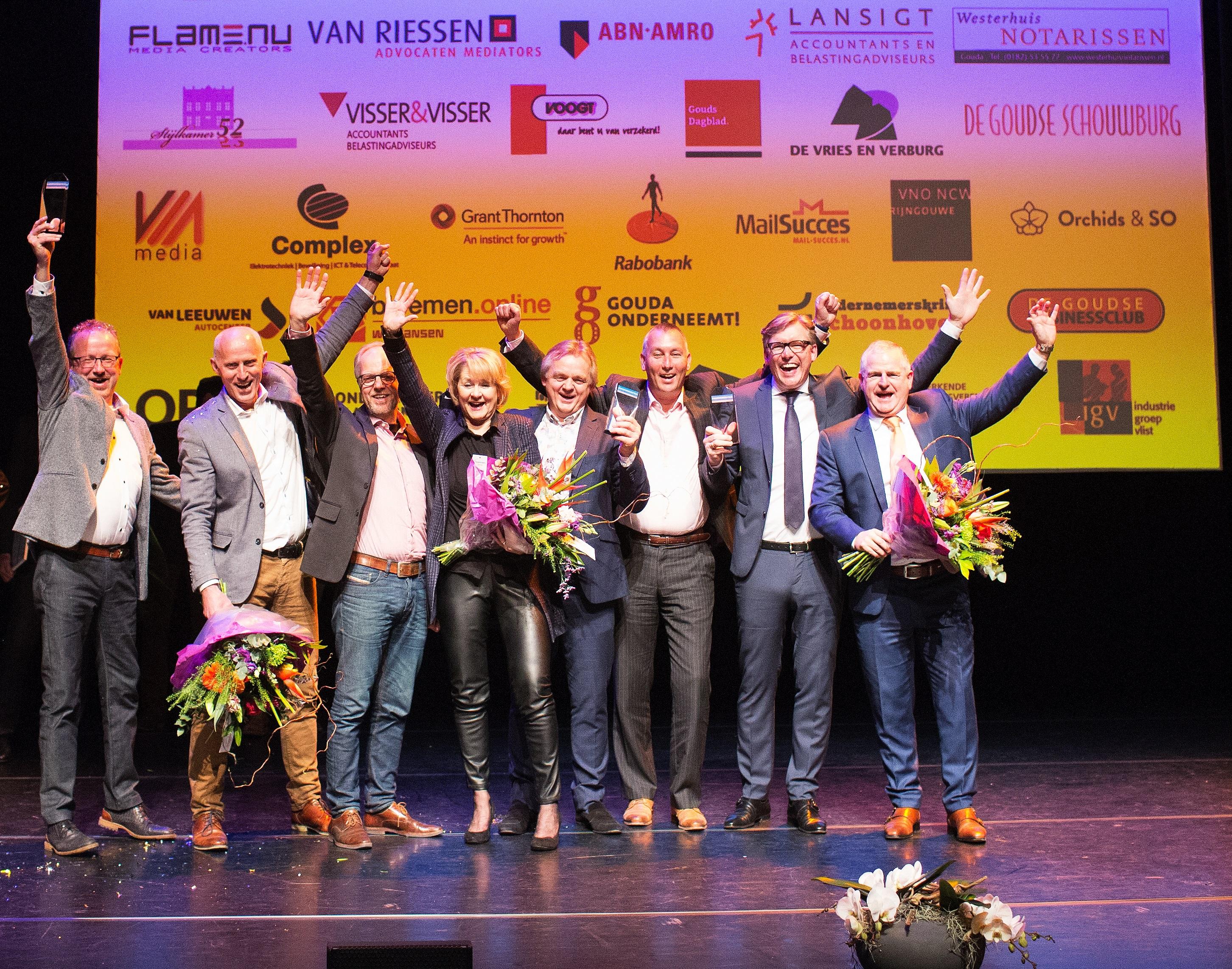 Twee Goudse bedrijven winnen Ondernemersprijs Midden Holland