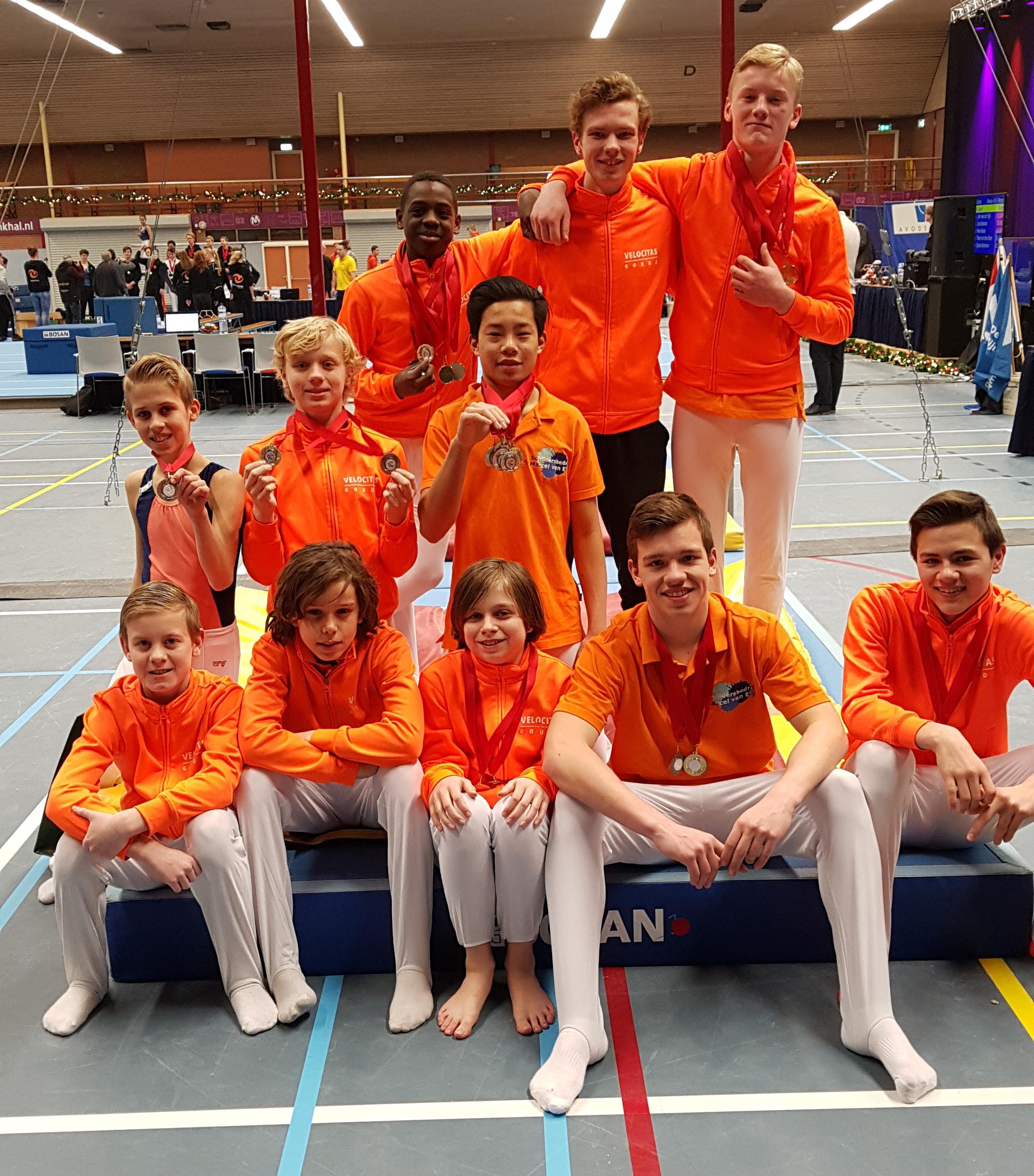Velocitas Gouda met 26 medailles naar huis vanaf Kersttoernooi