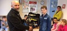 Pascal Kuiper van de Westerschool wint een accu-schroefmachine