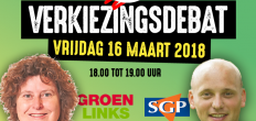 GoudaFM verkiezingsdebat met GroenLinks en SGP