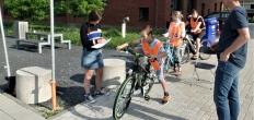 Verkeersexamen voor scholieren in Gouda