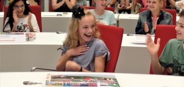 Tess Huijsmans nieuwe kinderburgemeester van Gouda