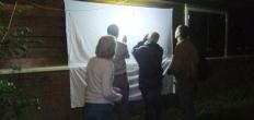 Nachtvlinders kijken bij infocentrum Heempad